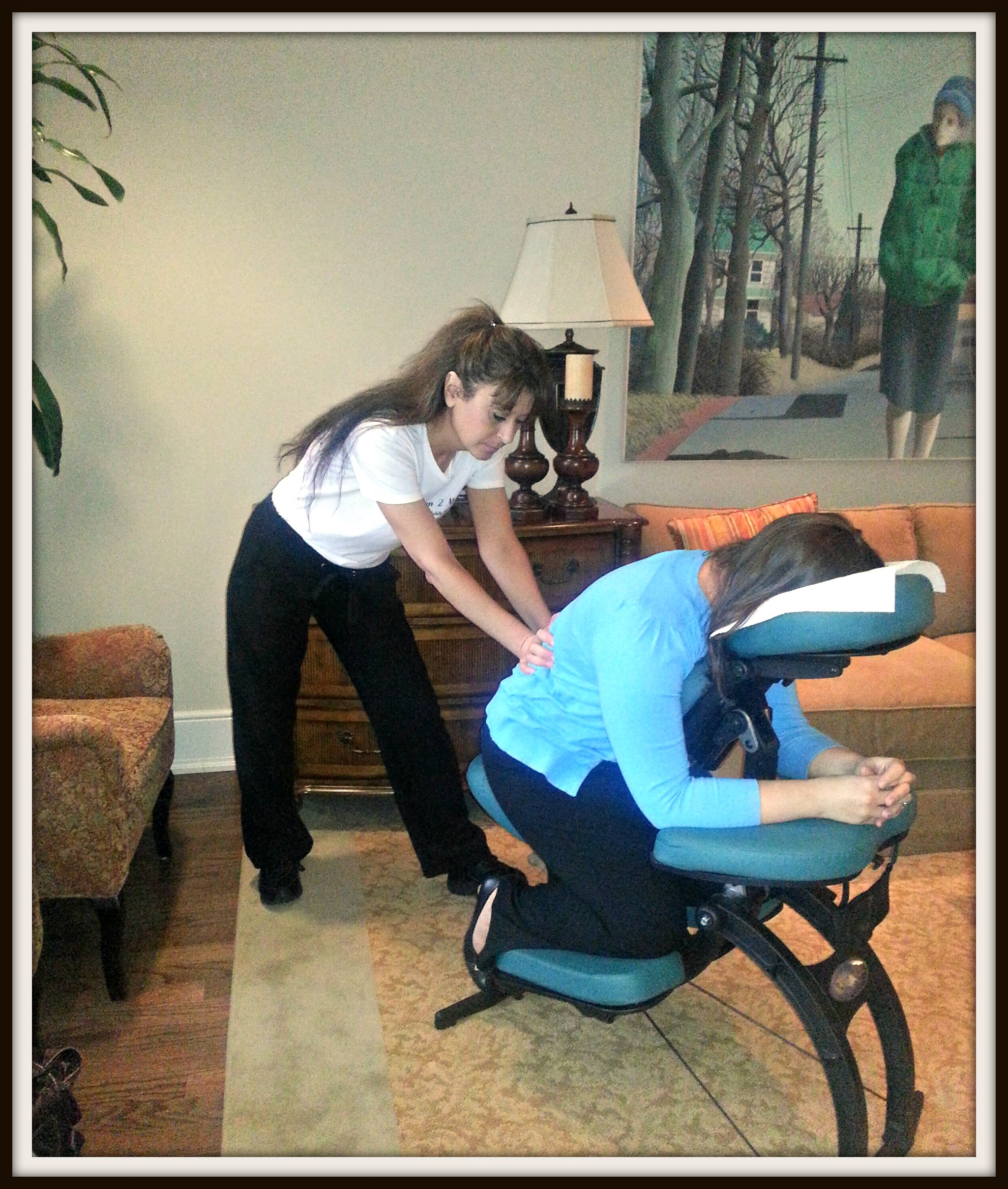 Corporate massage contracts for chair massage at the office for Chair massage