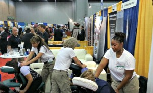 Seated massage at your trade show or convention in Atlanta