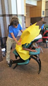 Onsite chair massage for health fairs and wellness events Atlanta, GA