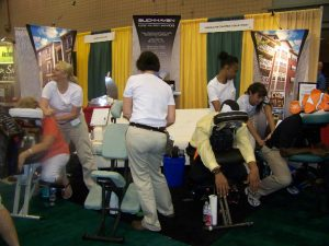 Chair massage at trade shows in Atlanta