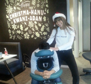 Chair Massage makes the perfect holiday gift