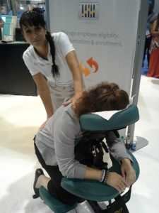 Chair massage for trade shows and conventions in Atlanta, GA
