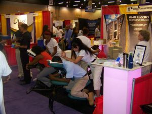 Atlanta trade show massage services by Turn 2 Massage