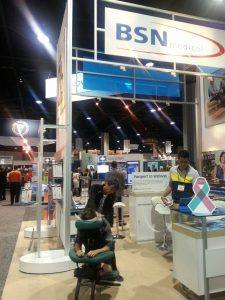 Chair massage at trade shows and conventions in Atlanta.