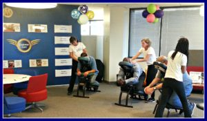 Chair massage for employee appreciation in Atlanta, GA