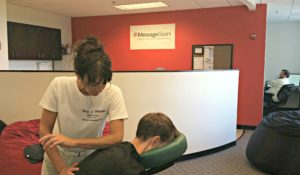 Office chair massage in Atlanta, GA.