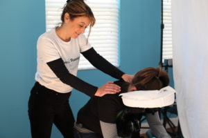 Chair massage at offices in Atlanta