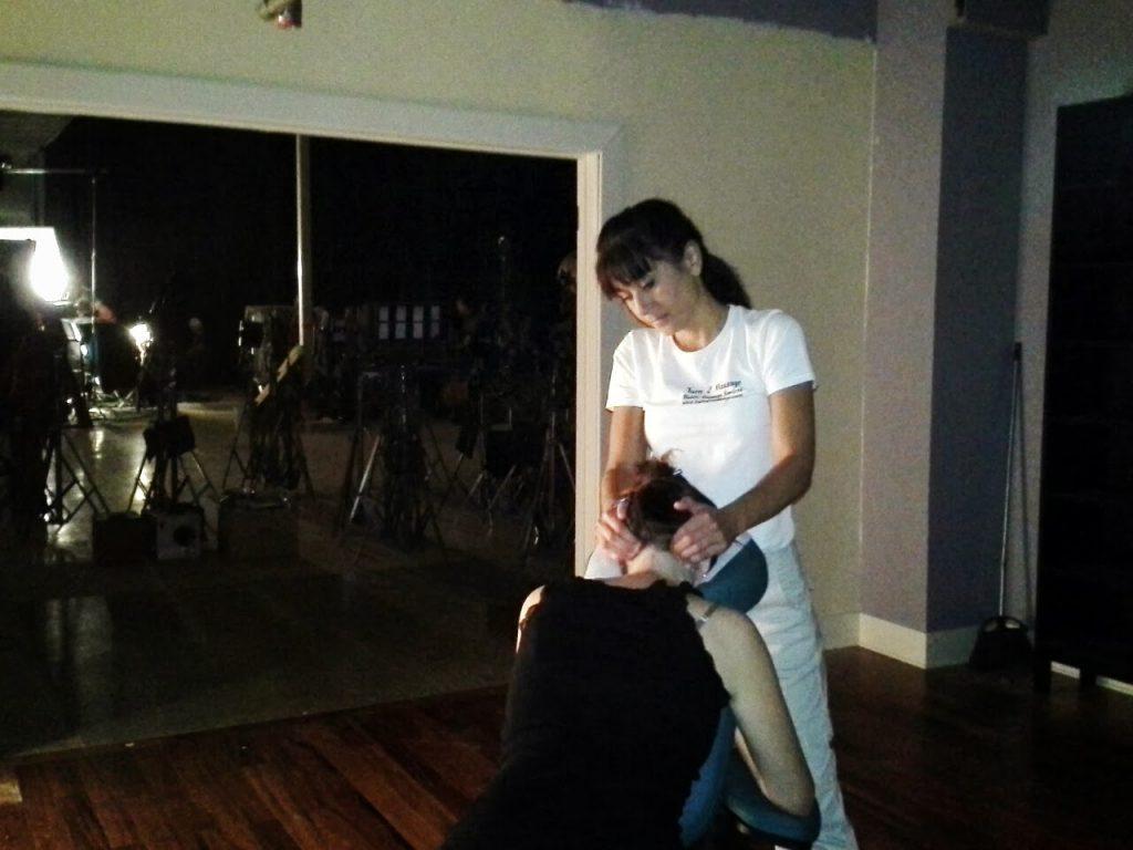 on-set-massage-film