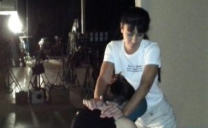 Chair massage on set and in home massage for cast & crew