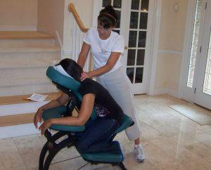 Chair massage for customer appreciation
