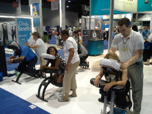 Chair Massage at Trade Show