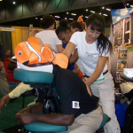 Onsite massage at trade shows in Atlanta, GA
