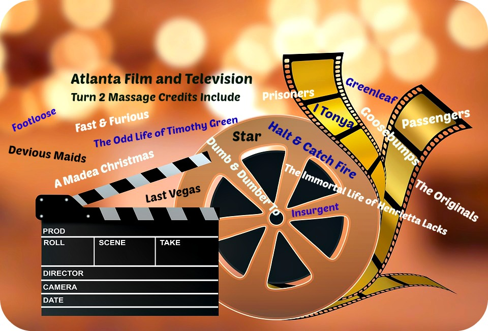 Turn 2 Massage provides mobile massage services for film and television in Atlanta, GA