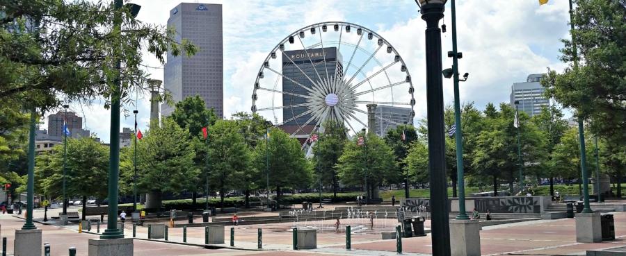 Mobile Massage in Atlanta, GA.  Centennial Park