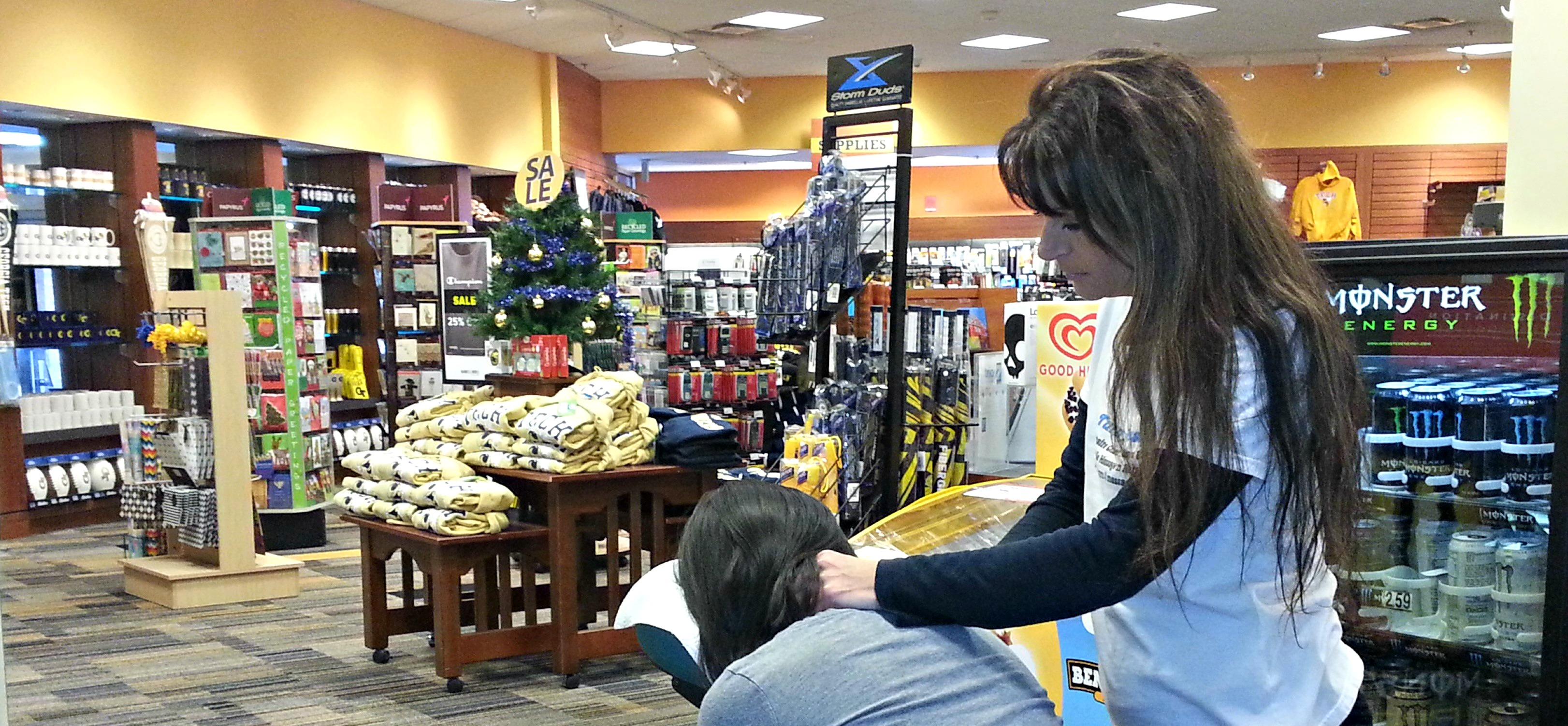 Chair massage for customer appreciation, grand openings and store events Atlanta, GA