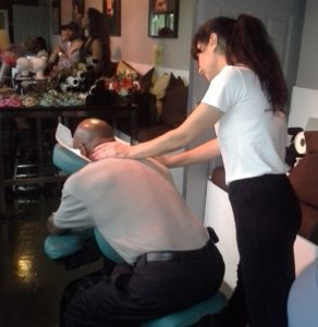 The benefits of chair massage by Turn 2 Massage