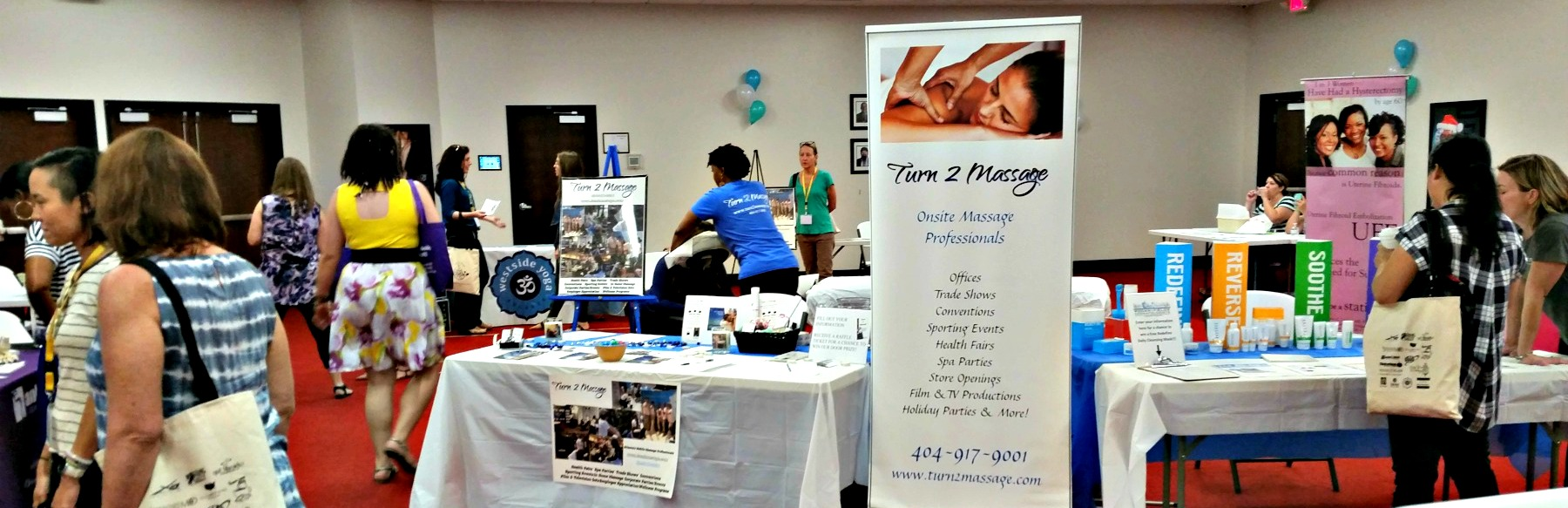 Chair massage at health fairs and wellness events in Atlanta,GA