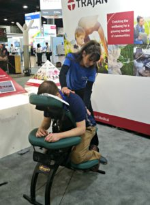 Chair Massage at a trade show in Atlanta