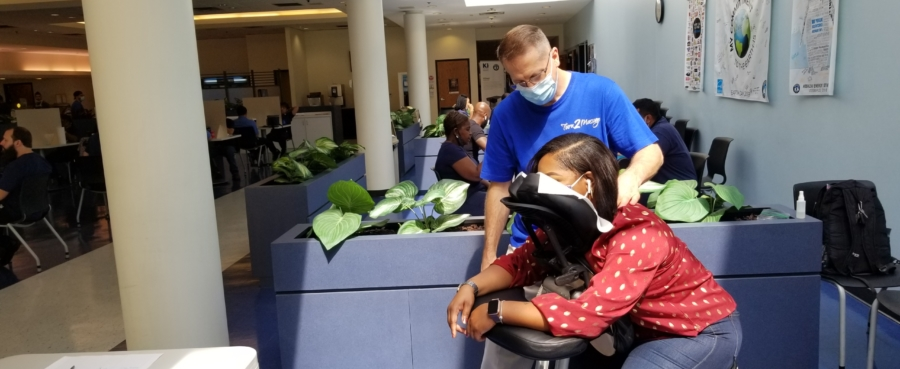 Chair Massage at offices and events in Atlanta.