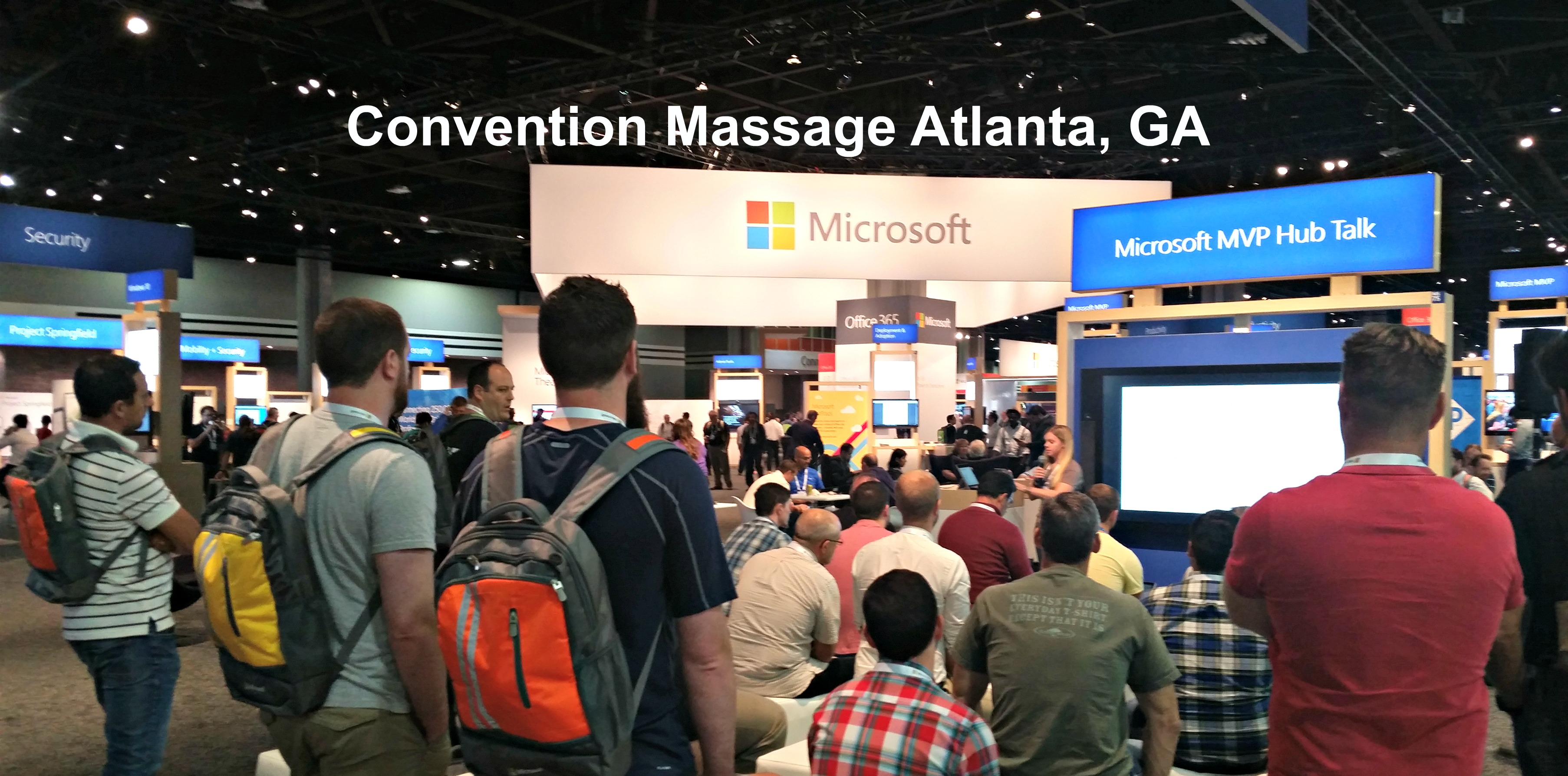 Onsite Chair Massage at Conventions in Atlanta, GA