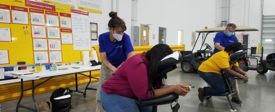 Chair Massage at the office and at events in Atlanta