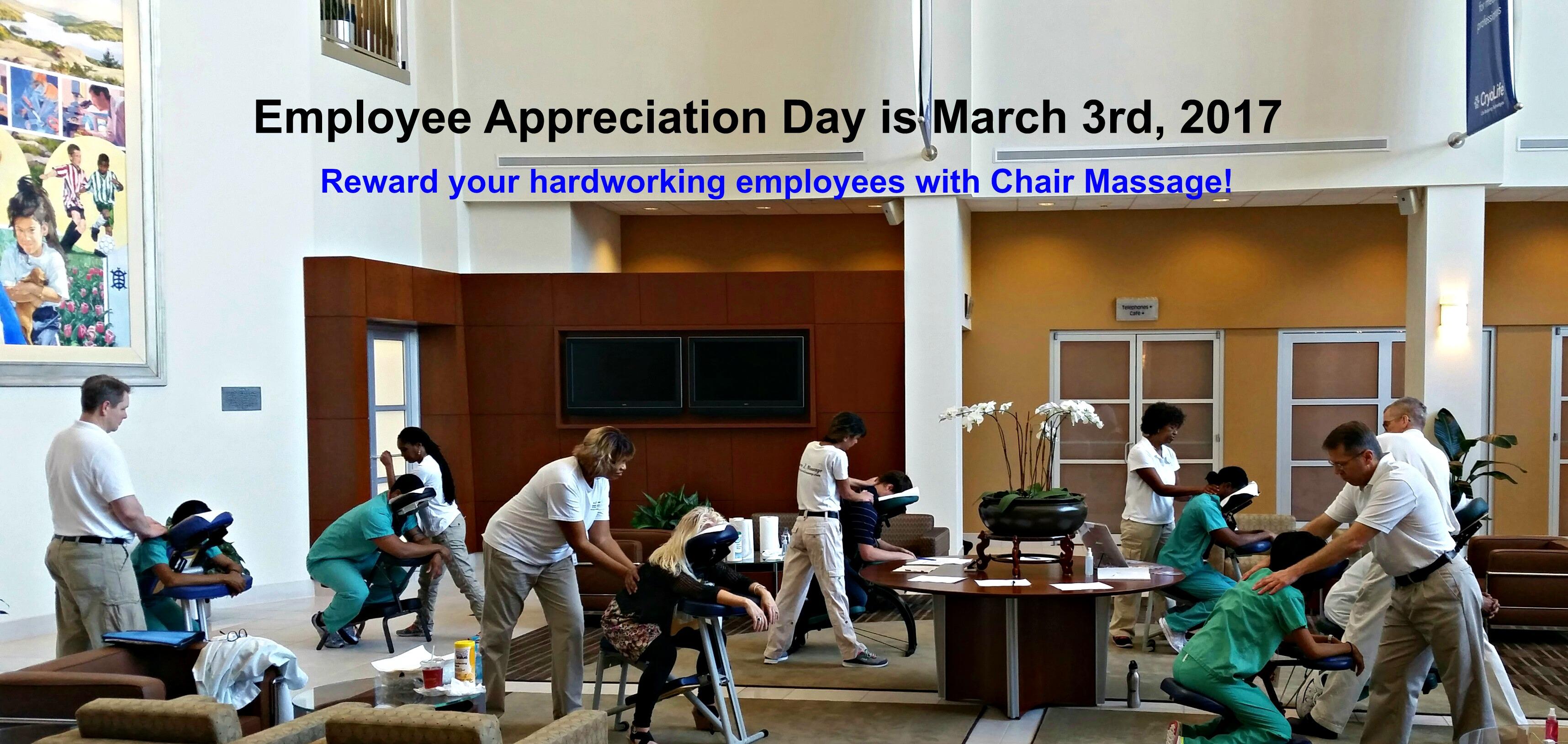 Employee Appreciation Day Chair Massage