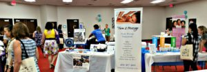 Chair massage at health fairs and wellness events in Atlanta
