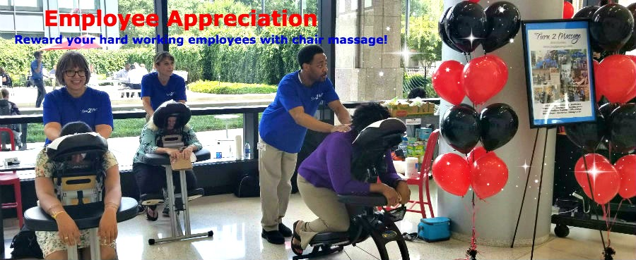 Chair Massage for Employee Appreciation Day Atlanta