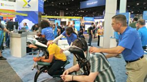 Trade Show Massage in Atlanta, Georgia.