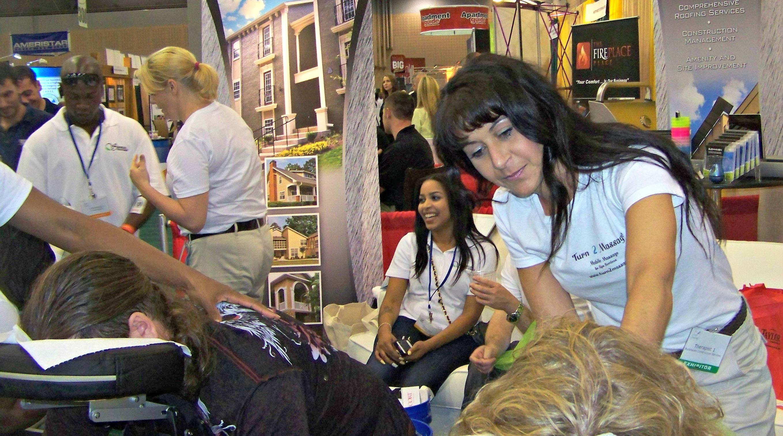 Chair massage at trade shows and conventions Atlanta, GA