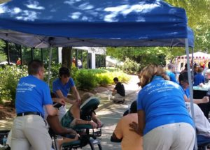 Chair massage for corporate celebrations