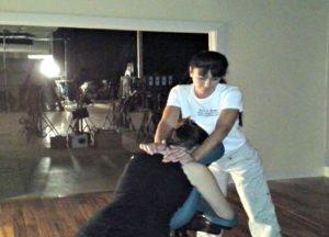 Atlanta Massage on Set for film and television
