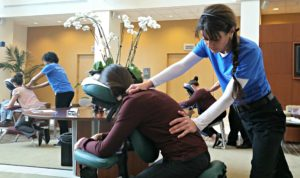 Atlanta mobile chair massage by Turn 2 Massage