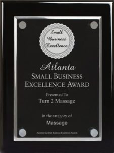 Turn 2 Massage receives excellence award in Atlanta Massage