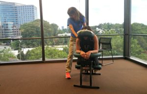 Chair Massage at the office of FHLB of Atlanta