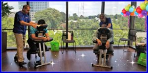 Chair Massage for Employee Appreciation Day at FHLB of Atlanta