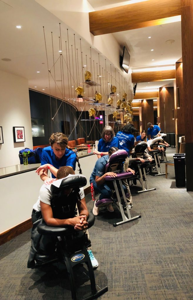 Chair Massage Wellness Event